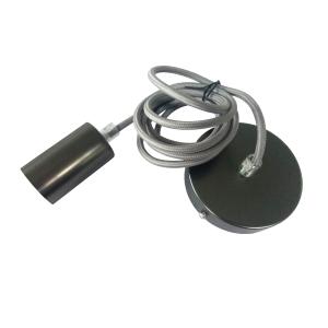 PORTALAMPARAS E27 C/CABLE 1MT NEGRO