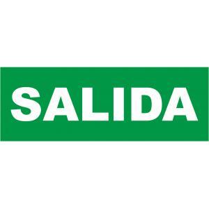 "PEGATINA TEXTO ""SALIDA"" PARA EMERGENCIA LUMINE"