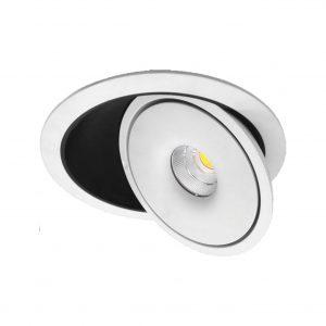 EMPOTRABLE LED ROTABLE 355º 9w 810lm 40º 4000k BLANCO