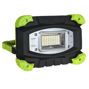 PROYECTOR LED 20w 1600lm 6000K IP54 C/BATERIA RECARGABLE NEGRO/VERDE