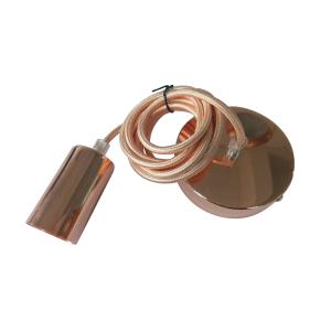 PORTALAMPARAS E27 C/CABLE 1MT BRONCE